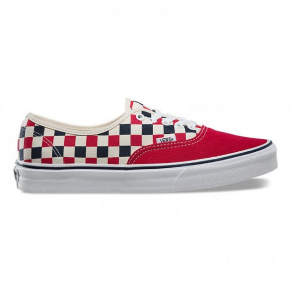 Vans Authentic (Red-Blue-Check)