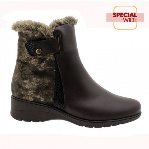 Ankle Boot Brown Leather (185973)