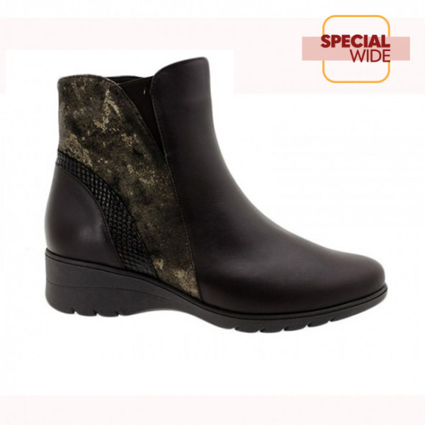 Ankle Boot Brown Leather (185977.)