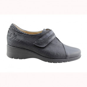 Velcro Shoe Black Leather (175962)