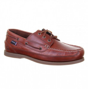 Chatham Rockwell Chestnut Δερμάτινα Boat Shoes Ταμπά