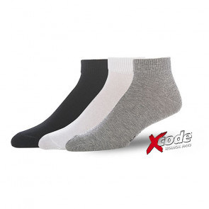 Xcode 04684 3Pack Ankle Μαύρο/Λευκό/Γκρι