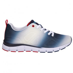 Fashion Sports Sneaker Sprayed White/Navy/Red (5201-0299)