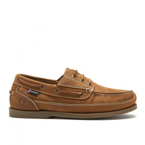 Chatham Rockwell Walnut Δερμάτινα Boat Shoes Καφέ
