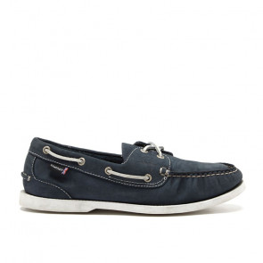 Chatham Pacific G2 Navy Δερμάτινα Boat Shoes Μπλε
