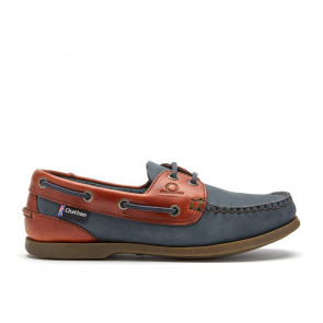 Chatham Bermuda G2 Navy Δερμάτινα Boat Shoes Μπλε