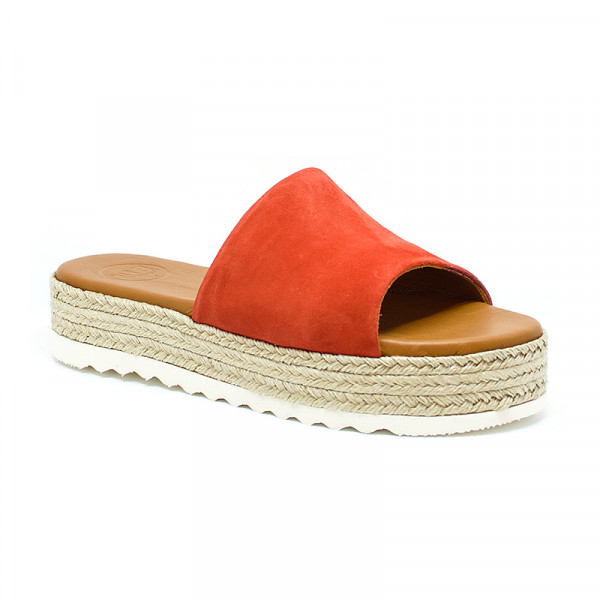 Bigshoes GA0201-Coral Leather Sandals Coral