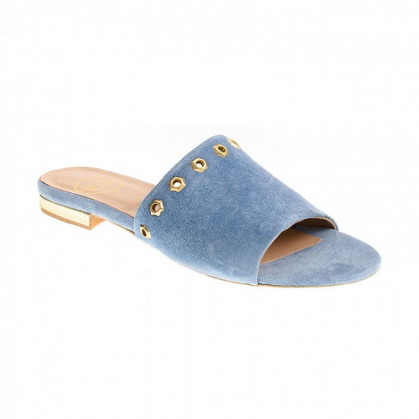 Bigshoes GA0115-11 Leather Slippers Ciel