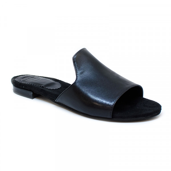 Bigshoes GA0209-01 Black Leather Sandals