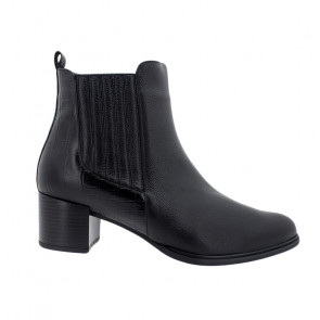 Piesanto 195454-01 Leather Ankle Boot Black 5.5cm
