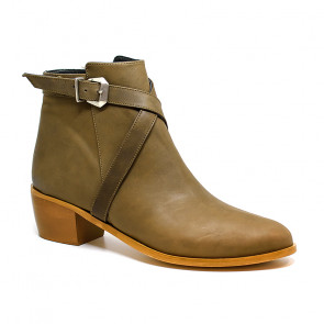 Bigshoes MX2036-07 Leather Ankle Boots Cigar 5.5cm