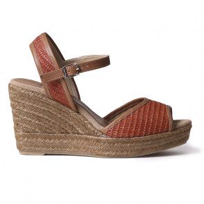 Toni Pons Altea-09 Tabac Wedges 9cm