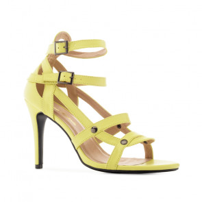 Andres Machado 5363-24 Heeled Sandal Yellow 11.5cm