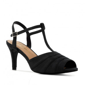 Andres Machado 5423-01 Heeled Sandal Black 10.5cm