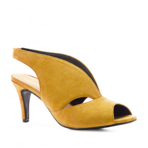 Andres Machado 5424-24 Heeled Sandal Yellow 9.5cm