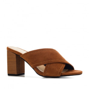Andres Machado 5441-05 Heeled Sandal Brown 8.5cm