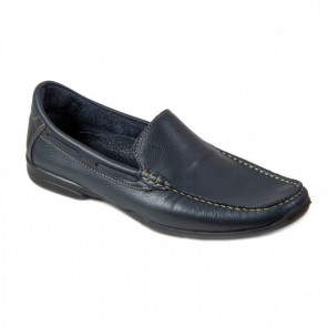 Biguers Romay-01 Leather Black Moccasins