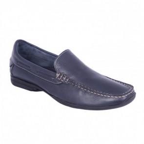 Biguers Romay-18 Leather Blue Moccasins
