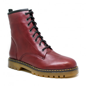 Bigshoes GA8278-23 Leather Ankle Boots Burgundy