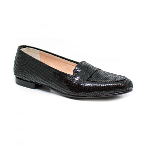 Bigshoes MX14255-01SN Leather Moccasin Black