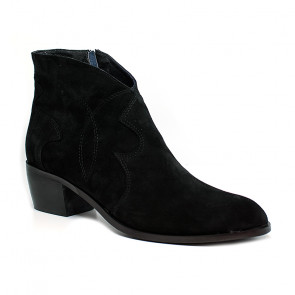 Bigshoes MX2004-01 Leather Ankle Boots Black 5cm