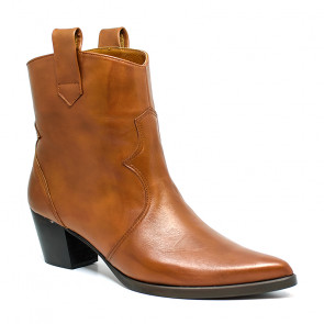 Bigshoes MX1921-09 Leather Ankle Boots Tan 6cm