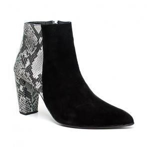 Bigshoes MX2045-01SN Leather Ankle Boots Black 8cm
