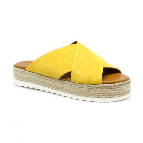 Bigshoes GA0200-24 Leather Sandals Yellow