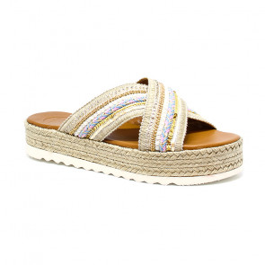 Bigshoes GA0203-13 Multi Leather Sandals Beige