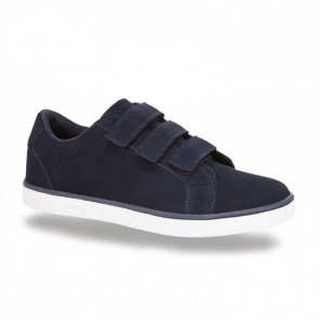 Boras Retro Sports Suede Velcro 5209-0002 Leather Blue Casual Shoes