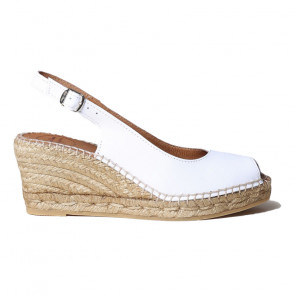 Toni Pons Croacia-02 Leather White Wedges 7cm