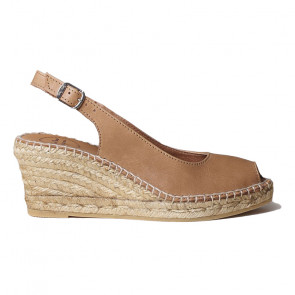 Toni Pons Croacia-09 Leather Tabac Wedges 7cm