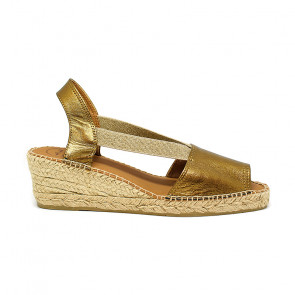 Toni Pons Teide-Bronce Leather Bronce Wedges 6cm