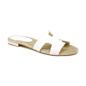 Bigshoes GA0211-02 White Leather Sandals