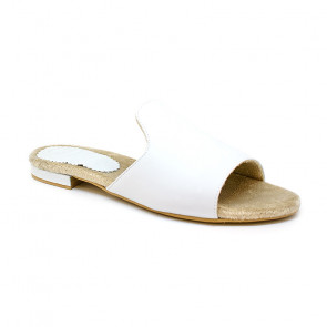 Bigshoes GA0209-02 White Leather Sandals