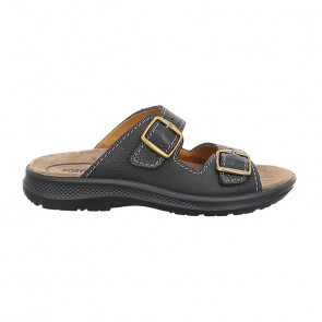 Jomos 50661137000 Leather Comfort Black Slippers
