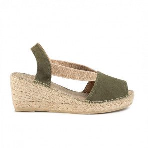 Toni Pons Teide-19 Leather Khaki Wedges 6cm