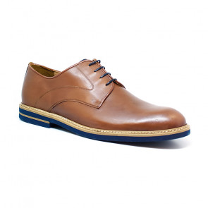 Bigshoes KL37306-09 Leather Dress Shoes Tan