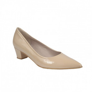 Bigshoes MX16111-13L Leather Pumps Beige 4cm.