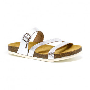 Bigshoes GA0301-04 Leather Sandals Silver