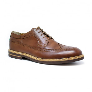 Bigshoes KL37103-05 Leather Dress Shoes Brown