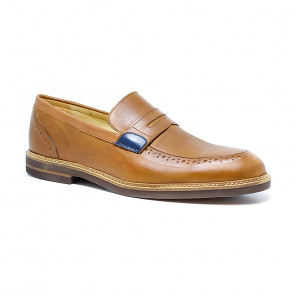 Bigshoes KL37210-09 Leather Dress Shoes Tan