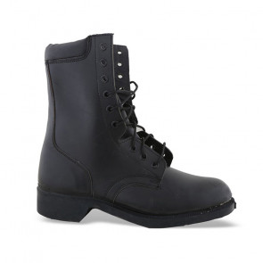 OL54 Black Military Ankle Boots