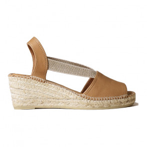 Toni Pons Teide-09 Leather Tabac Wedges 6cm