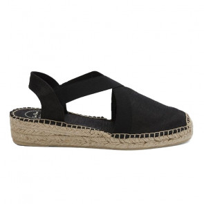Toni Pons Vic-01 Black Wedges 4cm